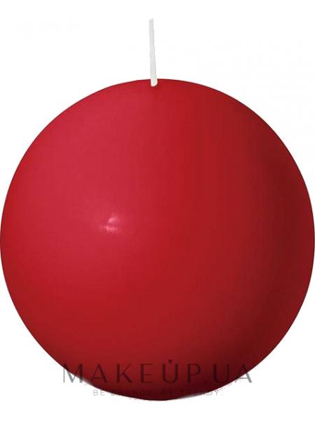 Свеча круглая, красная, 80 мм