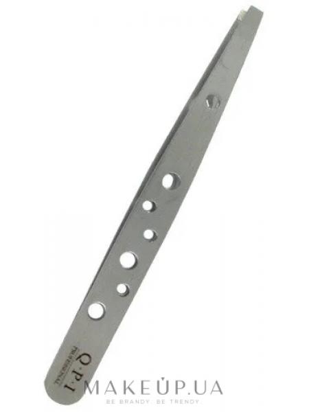 Пинцет металлический, скошенный перфорированный 8,5 см