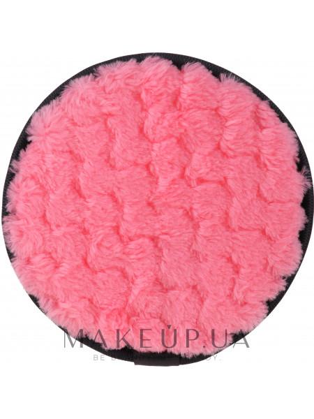Многоразовая косметическая подушечка-спонж для снятия макияжа, розовый