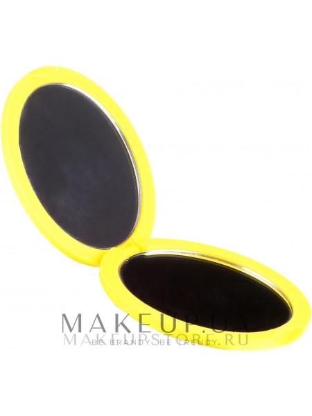 Зеркальце компактное круглое 85543, неоновое желтое