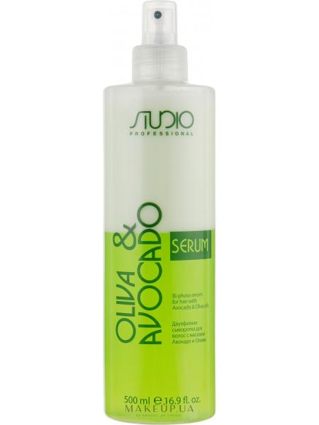 Двухфазная сыворотка для волос с маслами авокадо и оливы