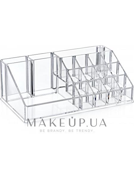 Органайзер для косметики 12,5x22x8 см, прозрачный