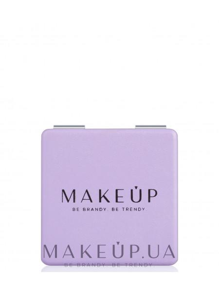 Раскладное карманное зеркало квадратное, фиолетовое