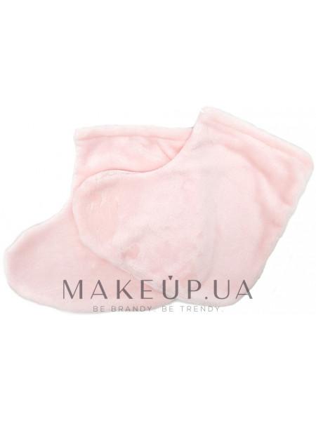 Носки для парафинотерапии махровые, светло-розовые