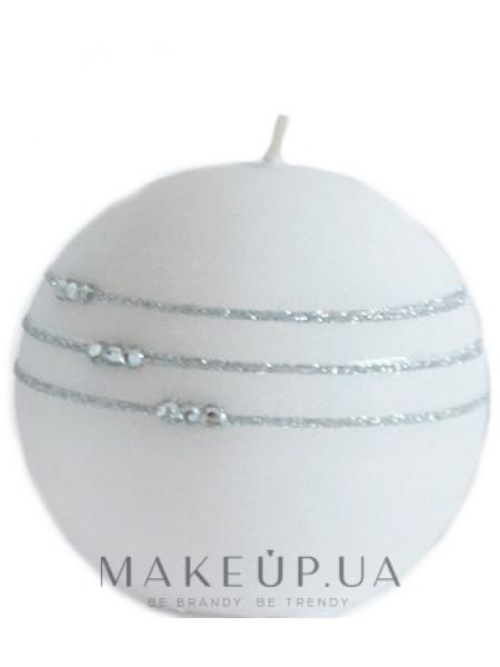 Свеча декоративная белая, 8 см