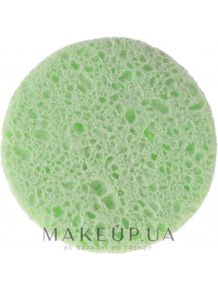 Губка для демакияжа из целлюлозы 6470, зеленая