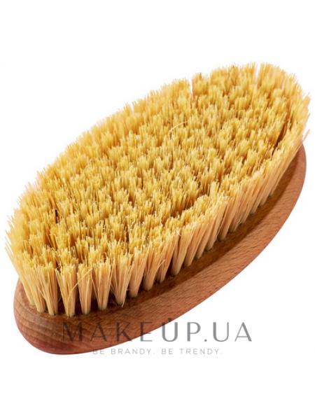 Овальная щетка для сухого массажа из листьев агавы