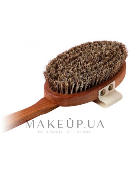 Щетка для сухого массажа из микса конского волоса и листьев агавы, 44 см