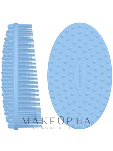 Щеточка массажная силиконовая, голубая