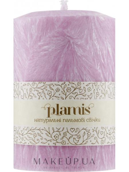 Декоративная пальмовая свеча, розовый перламутр