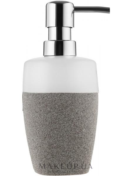 Дозатор для мыла, серо-белый