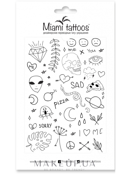 Черные переводные тату