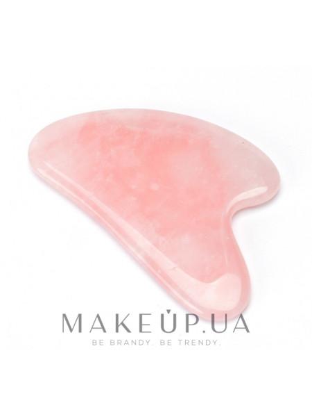 Гуаша из розового кварца для массажа лица