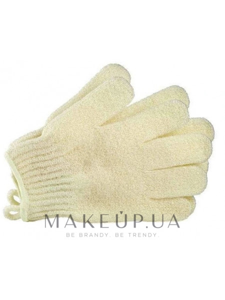 Перчатки банные, кремовые