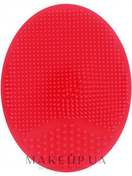 Спонж силиконовый для умывания, pf-60, красный