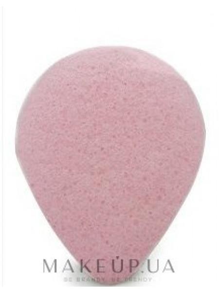 Спонж для умывания, капля, с розовой глиной
