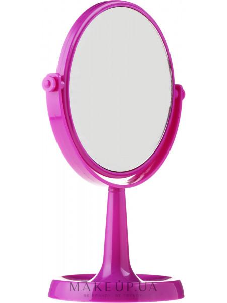 Зеркало на подставке 85734, круглое, 15.5 см, фиолетовое