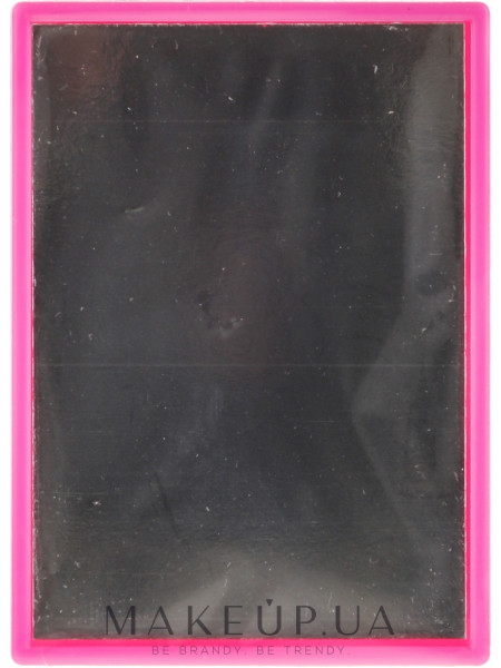 Компактное прямоугольное зеркальце, в розовой оправе