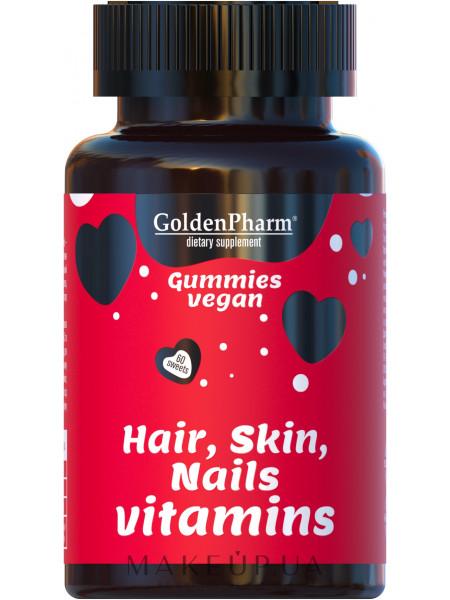 Витамины для волос, кожи и ногтей веганский мармелад №60