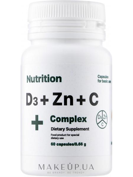 Витаминно-Минеральный комплекс d3 + zinc + с complex+, в капсулах