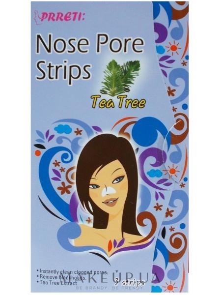 Очищающие поры пластыри для носа с экстрактом чайного дерева