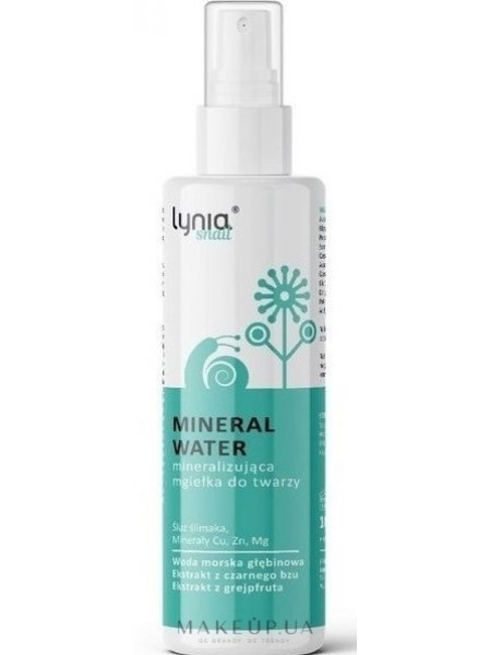 Минеральная вода-спрей со слизью улитки