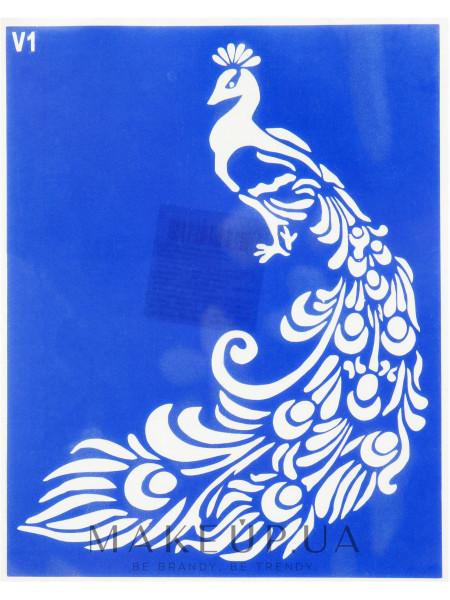 Трафарет для боди-арта, 15х19см, v1