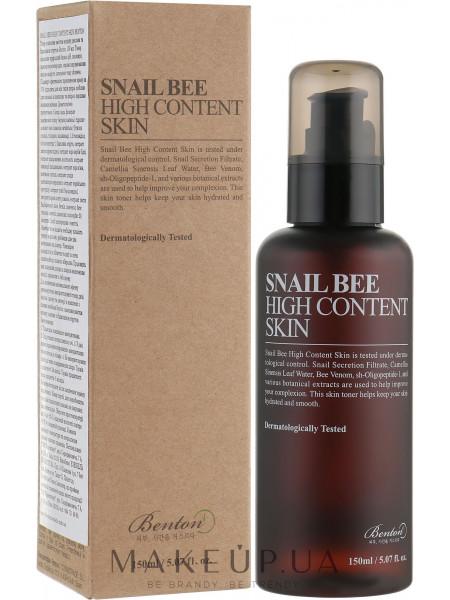 Тонер с высоким содержанием муцина улитки и пчелиным ядом