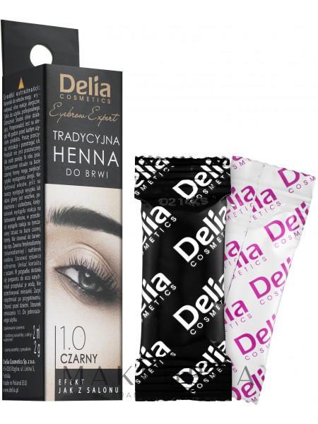 Delia brow dye henna traditional black
