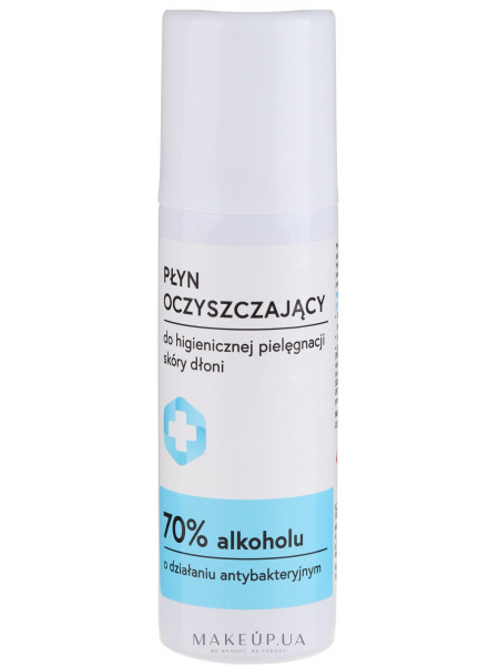 Антибактериальная очищающая жидкость для рук, с распылителем