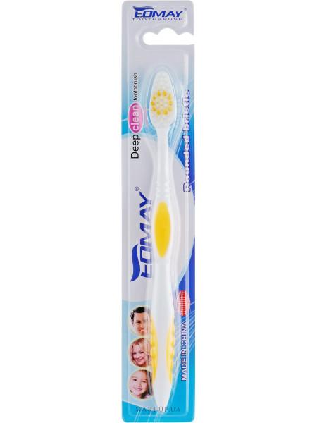 Зубная щетка, средней жесткости, 9901 желтая