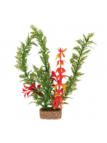 Декорация для аквариума Trixie растение с утяжелителем 20 см (пластик, растения в ассортименте)