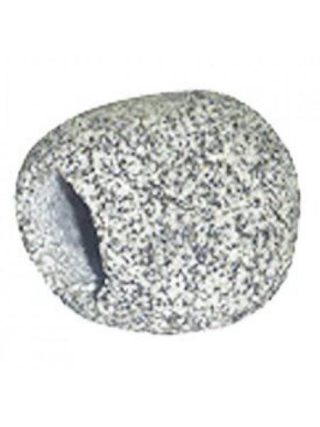 Декорация для аквариума KW Zone King's Камень полый, тёмный 7,5 x 6,5 x 6,5 см (натуральный)