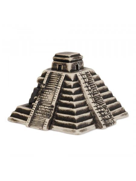 Декорация для аквариума Природа Пирамида майя 11 x 11 x 8 см (керамика)