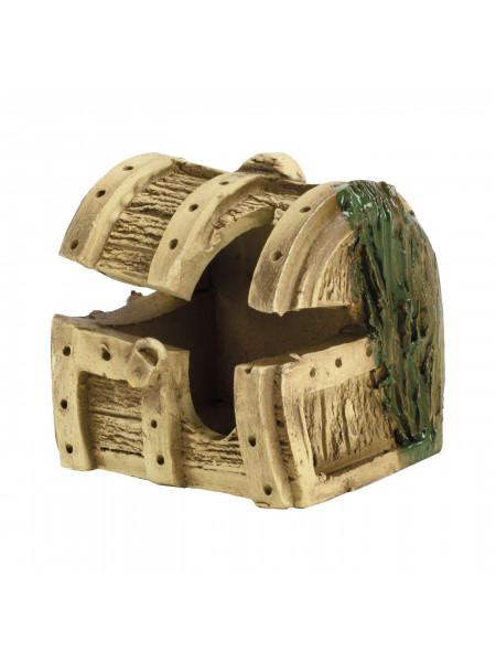 Декорация для аквариума Природа Сундук мини 13 x 8 см (керамика)