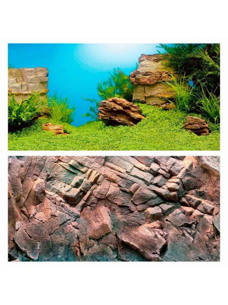 Фон для аквариума Juwel «Poster 1» 100 x 50 см (подводный ландшафт / скалы)