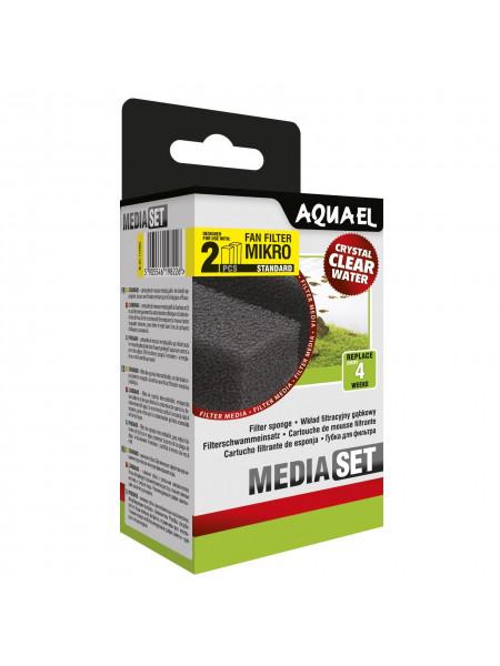 Губка Aquael «Media Set Standard» 2 шт. (для внутреннего фильтра Aquael FAN-mikro Plus)