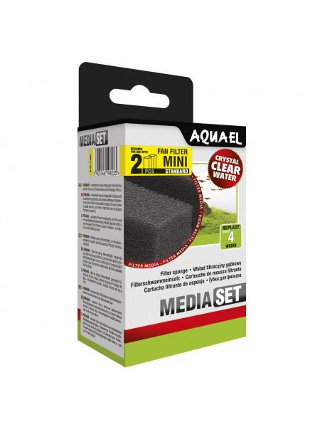Губка Aquael «Media Set Standard» 2 шт. (для внутреннего фильтра Aquael FAN-mini Plus)