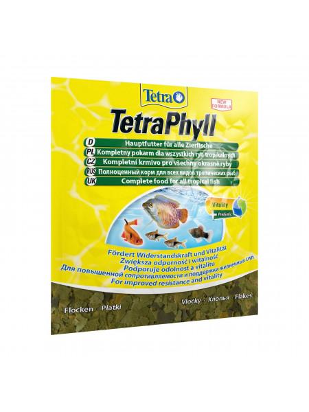 Сухой корм для аквариумных рыб Tetra в хлопьях «TetraPhyll» 12 г (для травоядных рыб)
