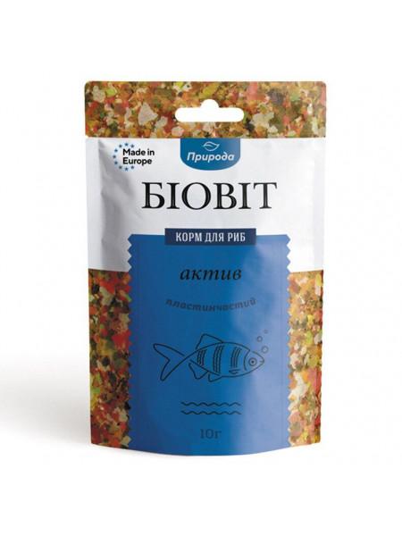 Сухой корм для аквариумных рыб Природа в хлопьях Биовит «Актив» 10 г (для всех аквариумных рыб)