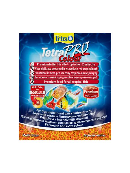 Сухой корм для аквариумных рыб Tetra в чипсах «TetraPro Colour» 12 г (для всех аквариумных рыб)