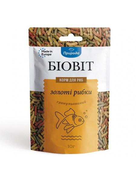 Сухой корм для аквариумных рыб Природа в палочках Биовит «Золотые рыбки» 10 г (для золотых рыбок)