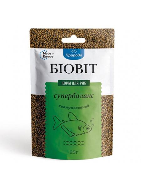 Сухой корм для аквариумных рыб Природа в гранулах Биовит «Супербаланс» 25 г (для всех аквариумных рыб)