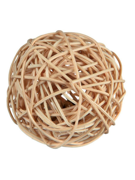 Игрушка для грызунов Trixie Мяч с погремушкой d=4 см (натуральные материалы)