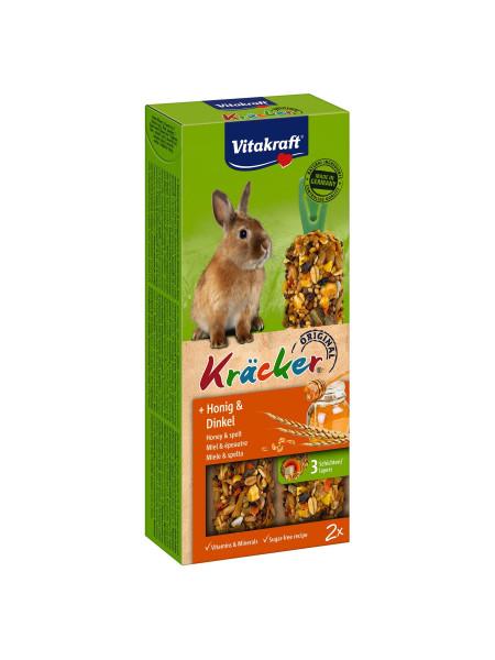Лакомство для кроликов Vitakraft «Kracker Original + Honey & Spelt» 100 г / 2 шт. (мёд и спельта)