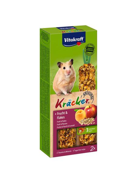 Лакомство для хомяков Vitakraft «Kracker Original + Frucht & Flakes» 112 г / 2 шт. (фрукты и хлопья)