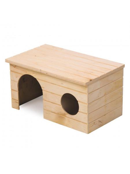 Домик для грызунов Природа «Мрія» 30 x 22 x 18 см (дерево)