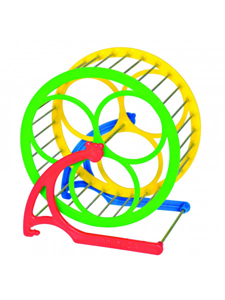 Беговое колесо для грызунов Природа на подставке d=14 см (пластик)