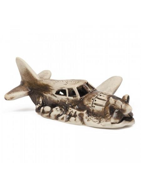 Декорация для аквариума Природа Самолет 12 x 5 x 9 см (керамика)