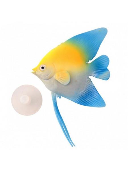 Декорация для аквариума из силикона «Рыба-ангел»